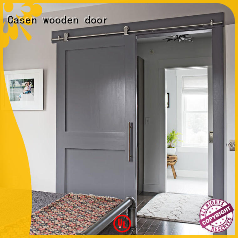 Casen Brand special doors space mdf barn door glass