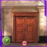 beveledge exterior wood doors wooden archaistic style for store
