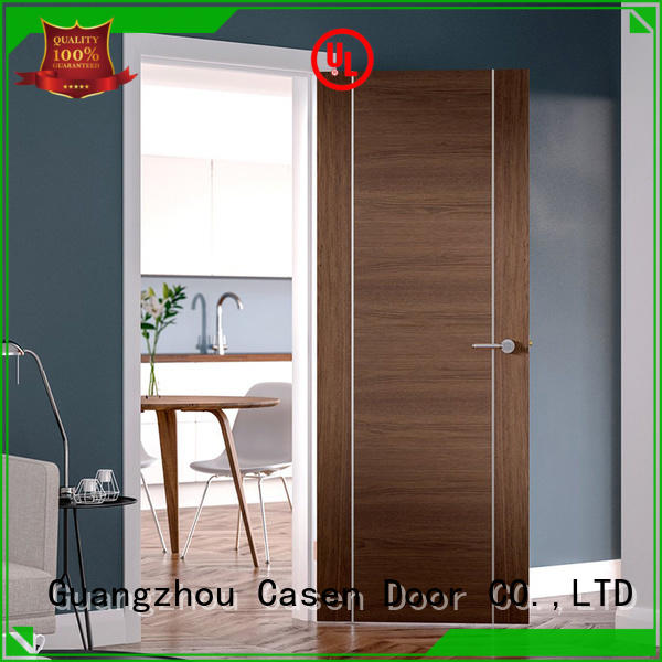 Casen wooden modern white interior doors solid wood for washroom