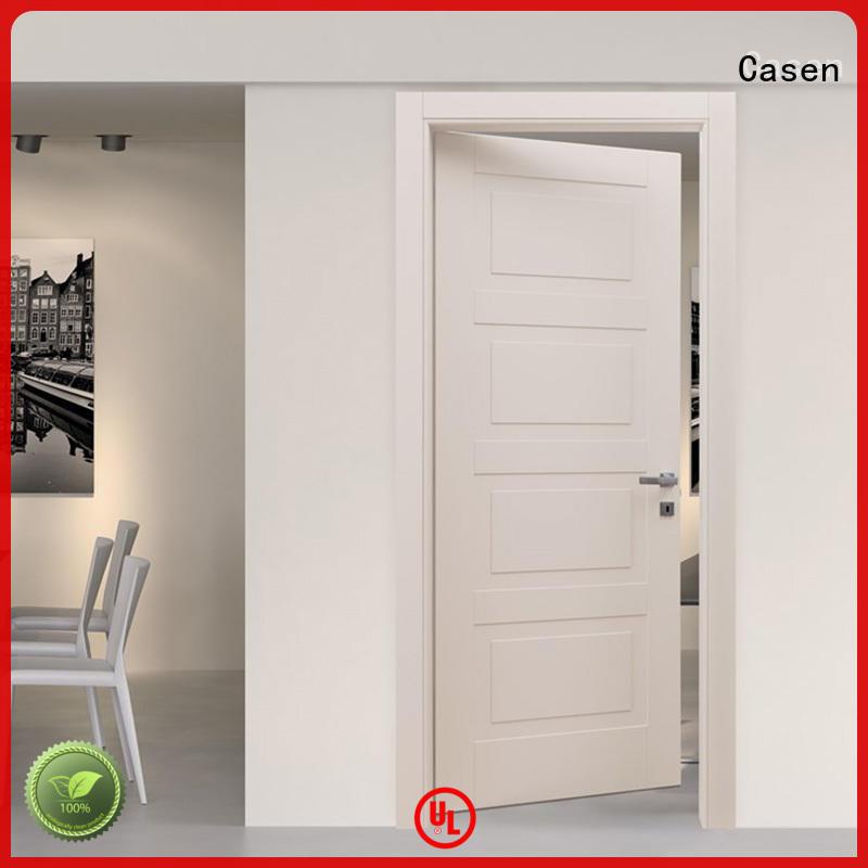 Casen plain yellow composite door best design for washroom