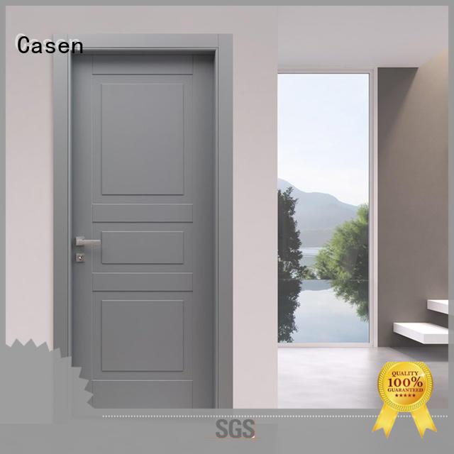 Casen wooden composite doors for sale gray for bathroom