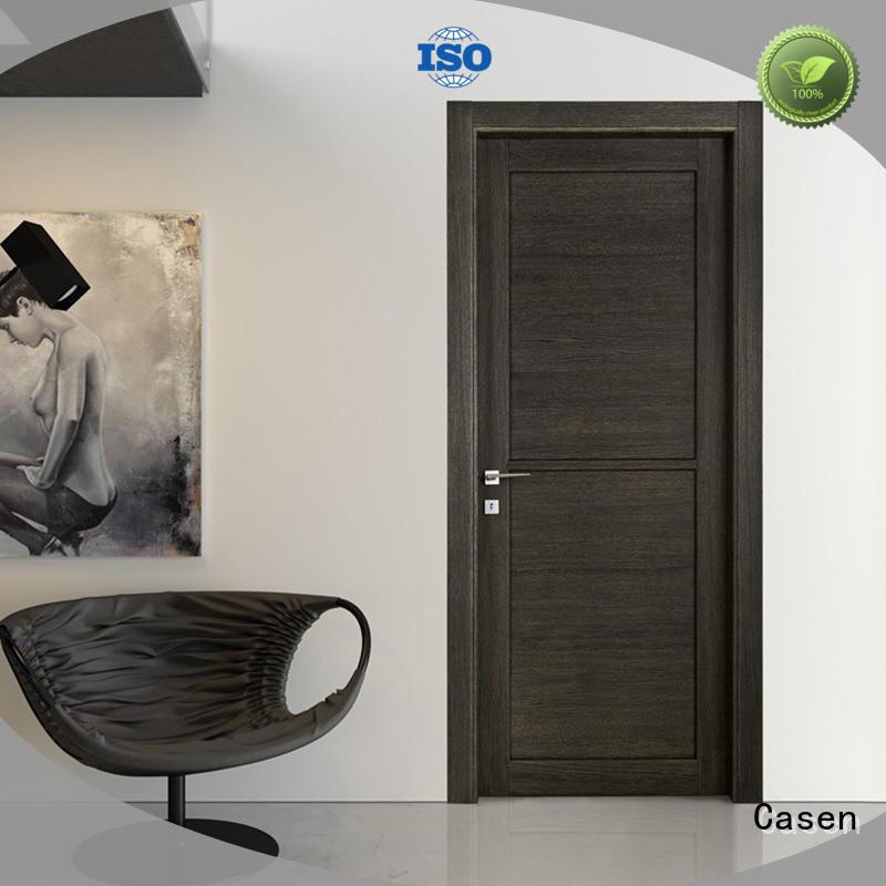 Custom door 4 panel doors dark Casen