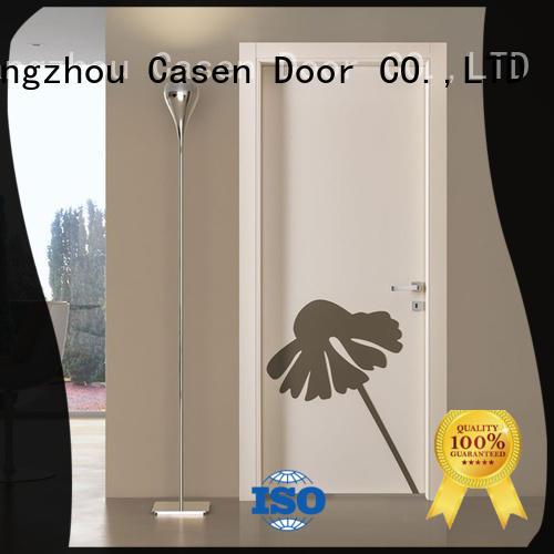 Casen hdf flush door OEM for washroom