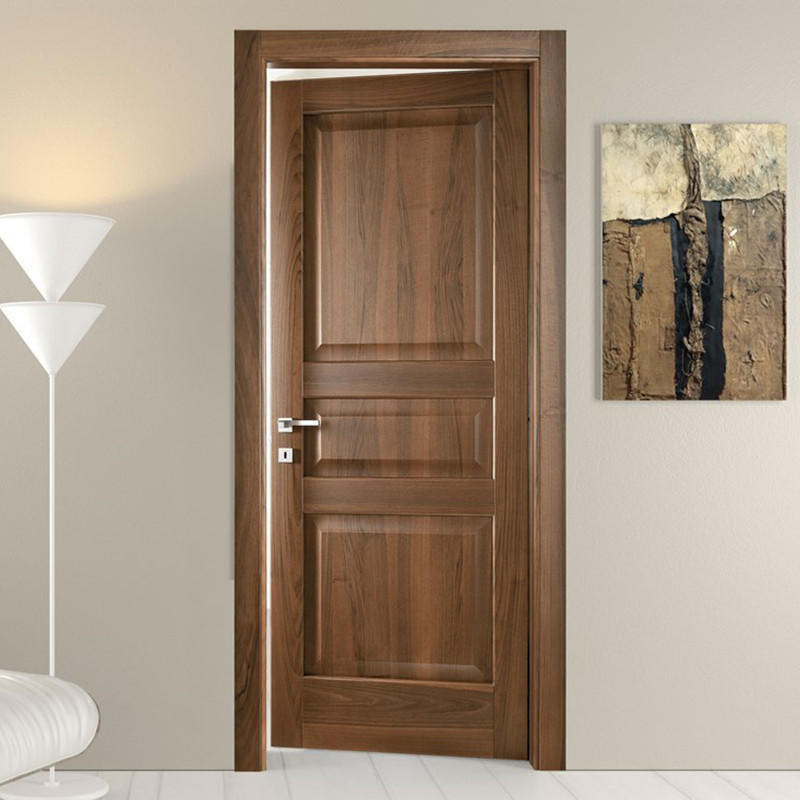 aluminium wooden door high quality solid wood for bathroom-3