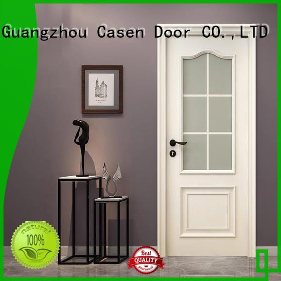 Casen white color internal glazed doors american for living room