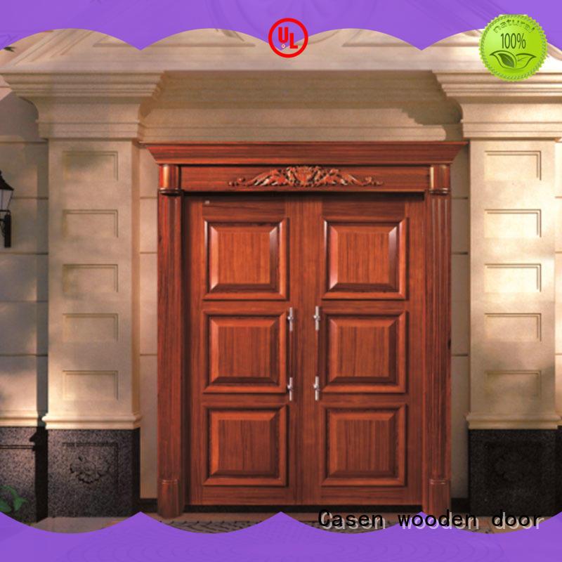 luxury design oakmain door iron for shop Casen