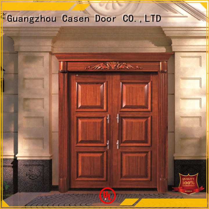 Casen natural solid wood front doors antique for house