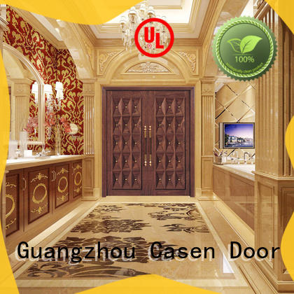 Casen iron wooden french doors archaistic style for shop