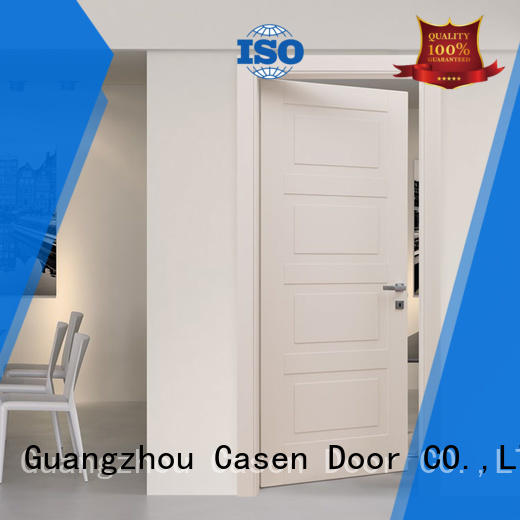light color composite door white wood simple style for bedroom