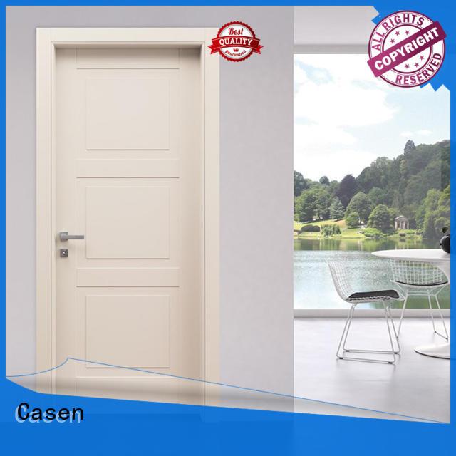 wooden light white simple 4 panel doors Casen