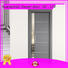 Easy design with glass,aluminium liner, gray wooden door for washroom/bathroom use  JS-4002A