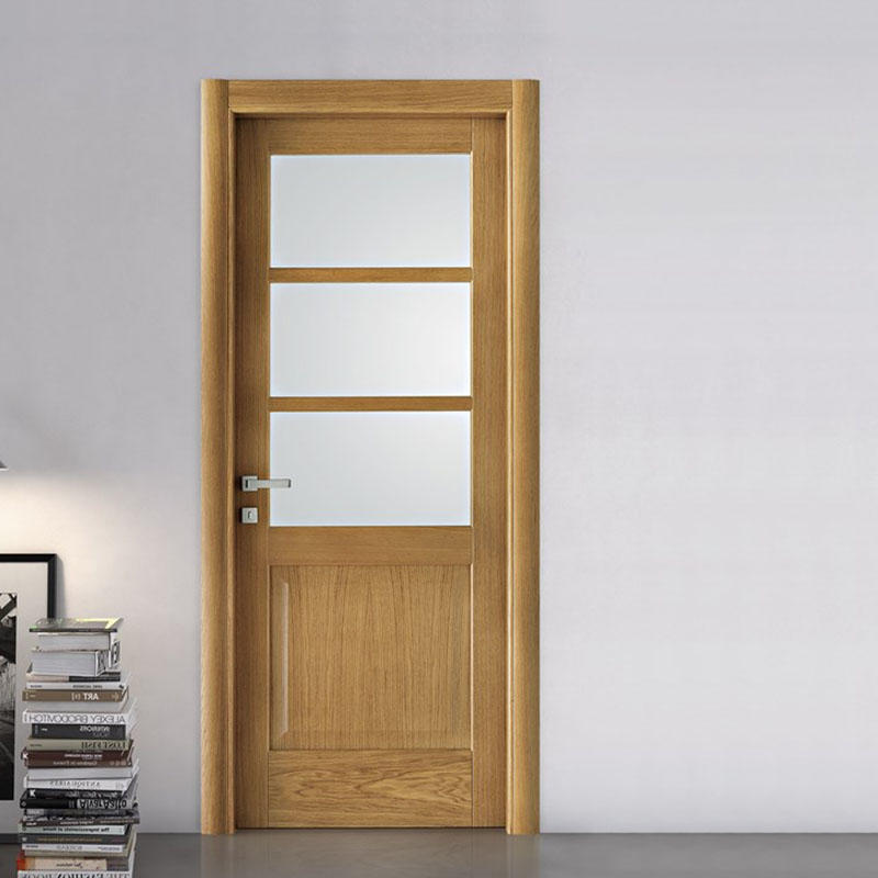 Modern design popular in Europe interior door for hotel classic wooden door JS-5005 A-2