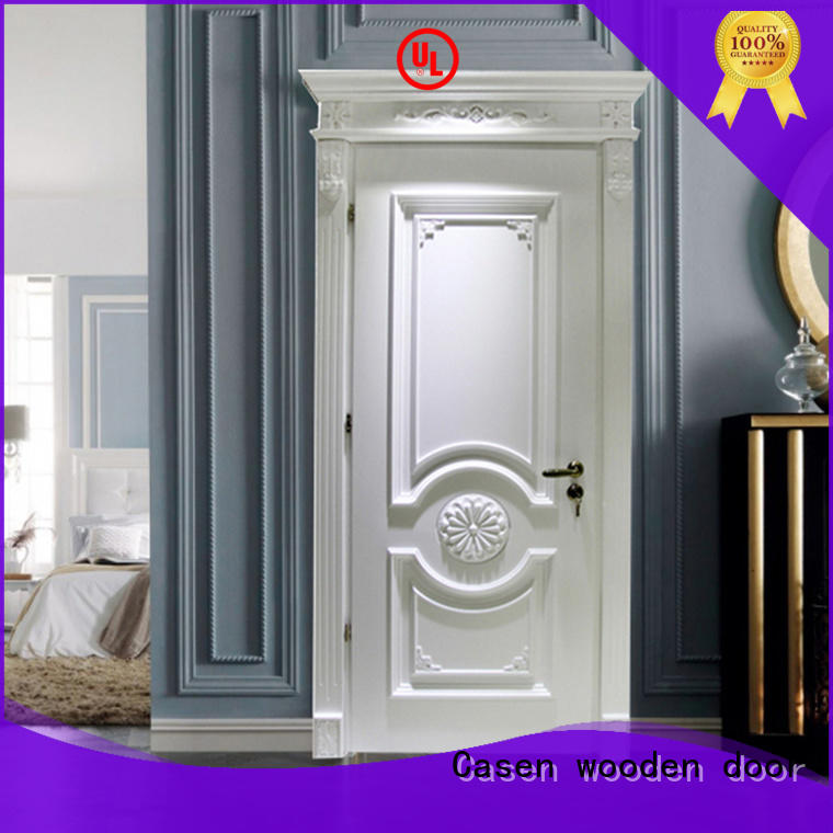 Casen white color wooden door fashion for living room
