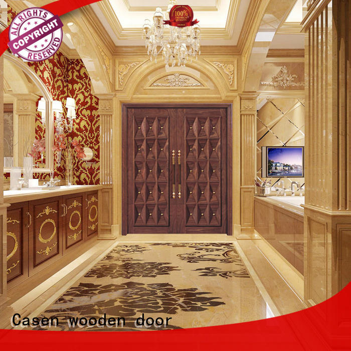 Wholesale style contemporary entry doors carved Casen Brand