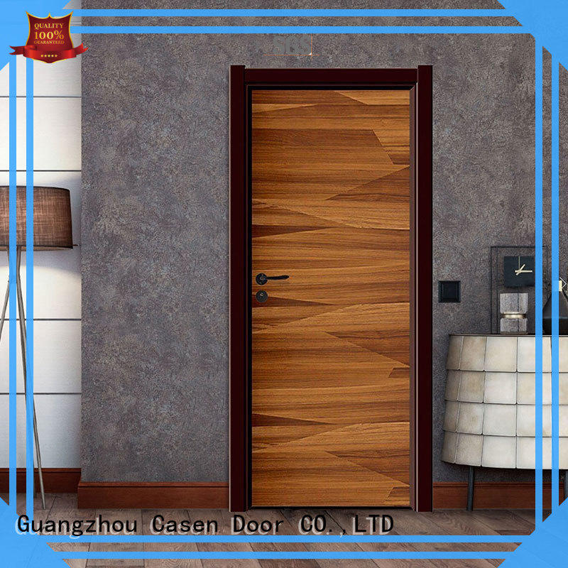 white wood composite door simple style for bathroom Casen