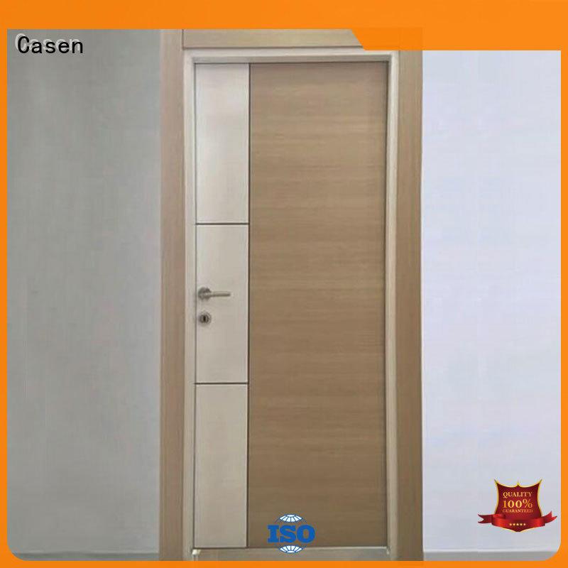 Casen mdf wood door at discount for washroom