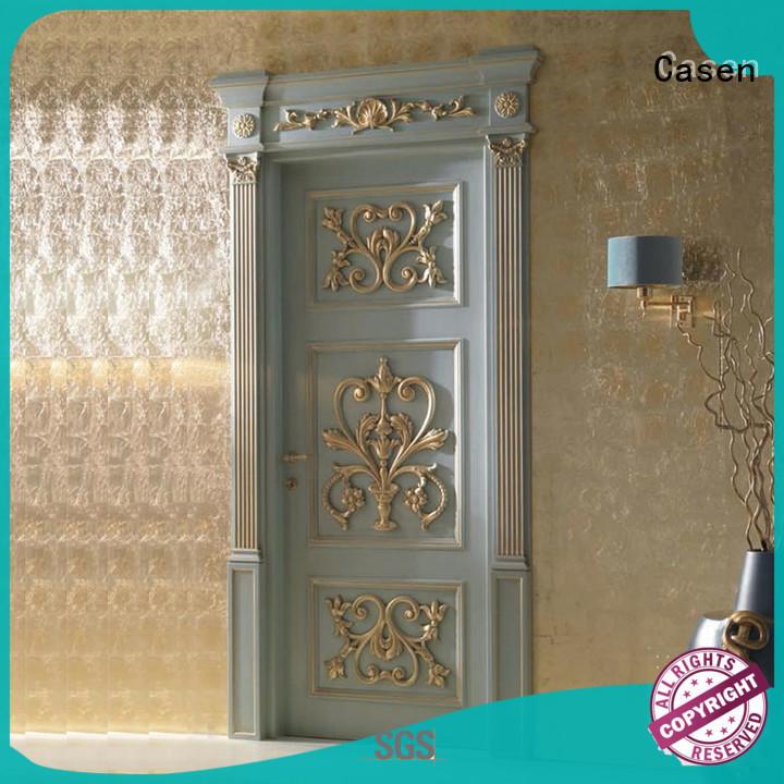 Casen carved flowers luxury wooden doors easy for kitchen