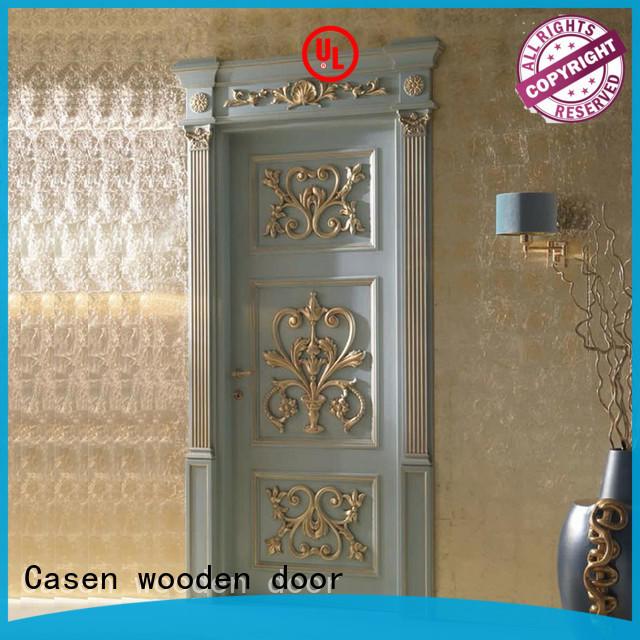 carved flowers internal glazed doors easy for store decoration Casen