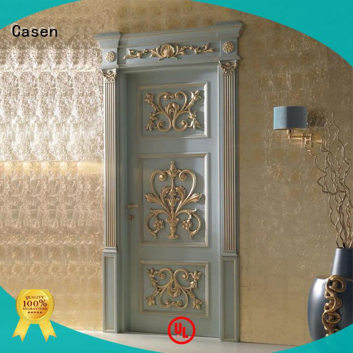 inside Custom carved fancy doors design Casen