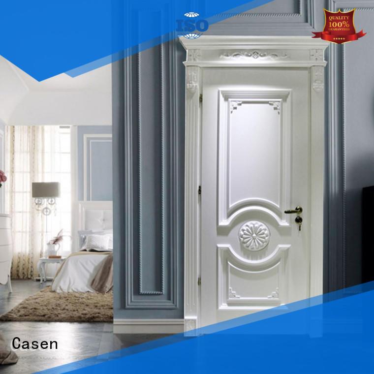 Casen wooden luxury double front doors modern for bedroom