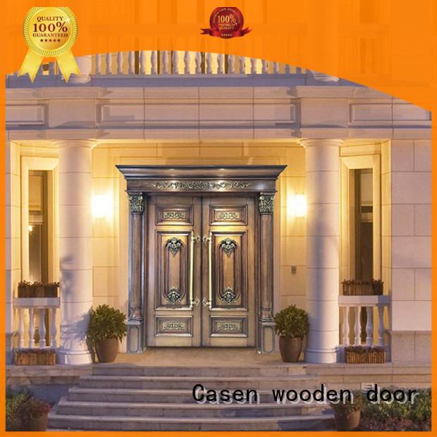 Casen iron wooden french doors front for villa
