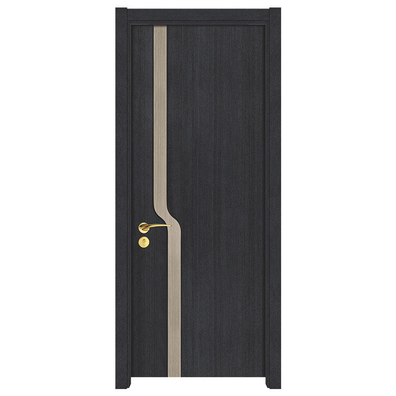 plain composite wood door flat simple style