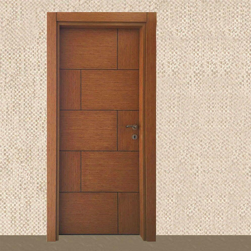 Professional Beautiful Bevel Edge Glass Wooden Main Door For Villa Or House