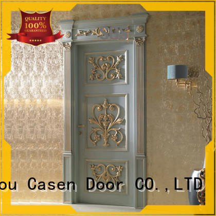 wooden fancy doors carved flowers french design for store decoration