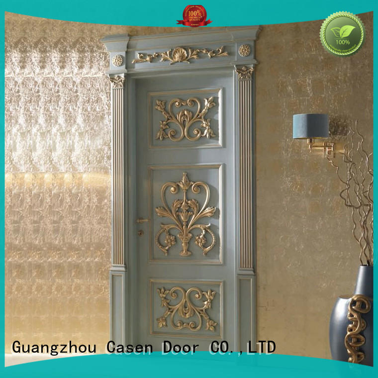 Casen wooden luxury wooden doors modern for living room