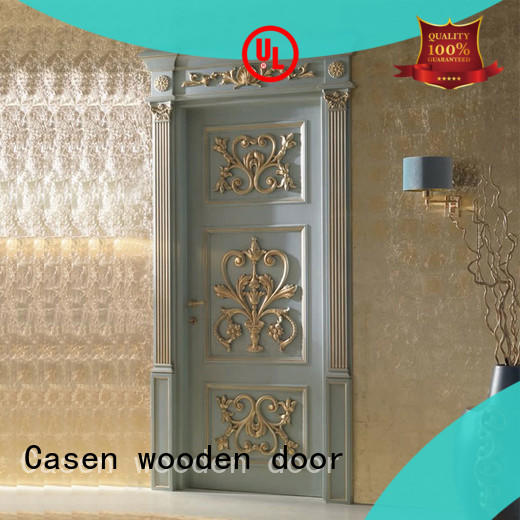 white color wooden door american french design for bedroom