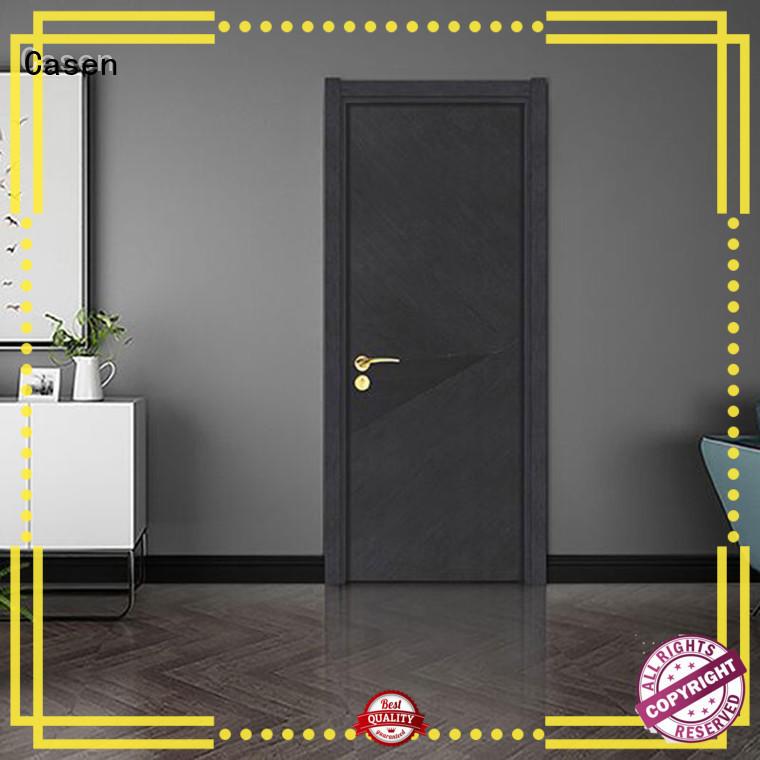 plain composite wood door white wood dark