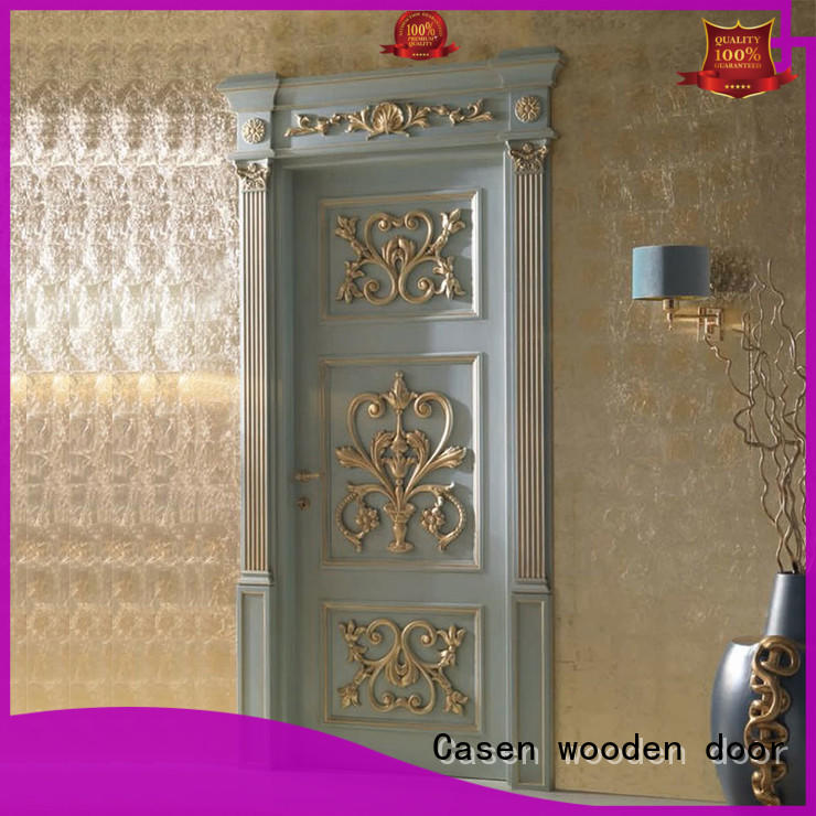 Casen white color solid wood interior doors single for store decoration