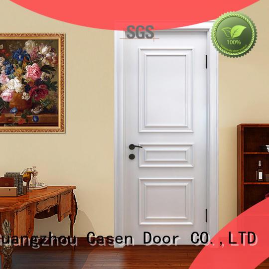 Casen carved flowers luxury wooden doors easy for bathroom