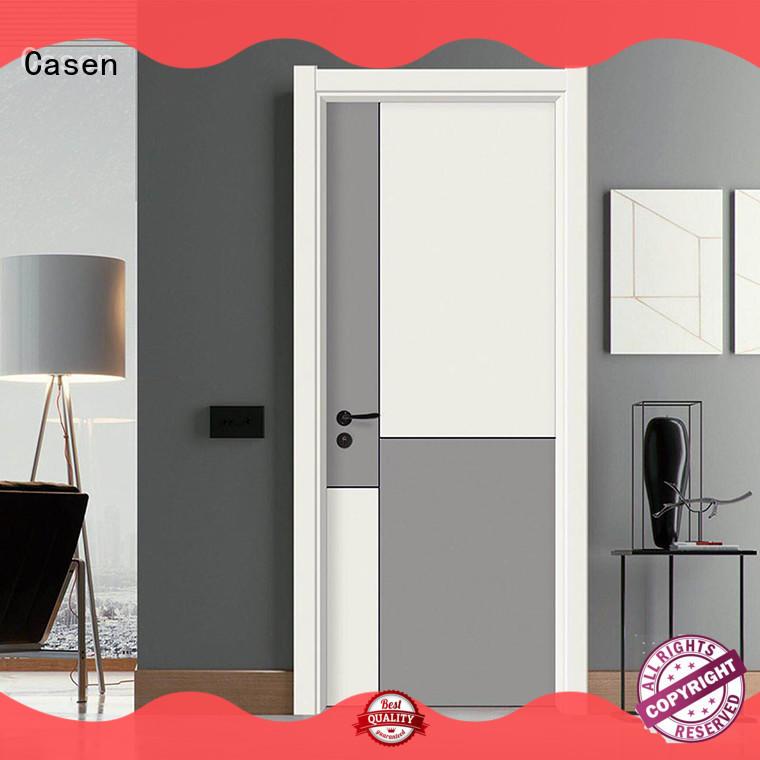 Casen white wood composite door simple style