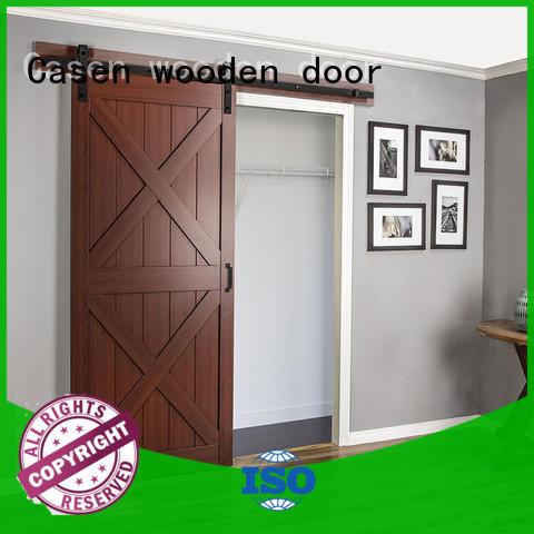 Casen Brand special glass custom mdf barn door