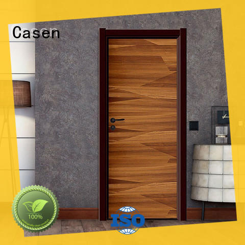 plain composite door wooden simple style