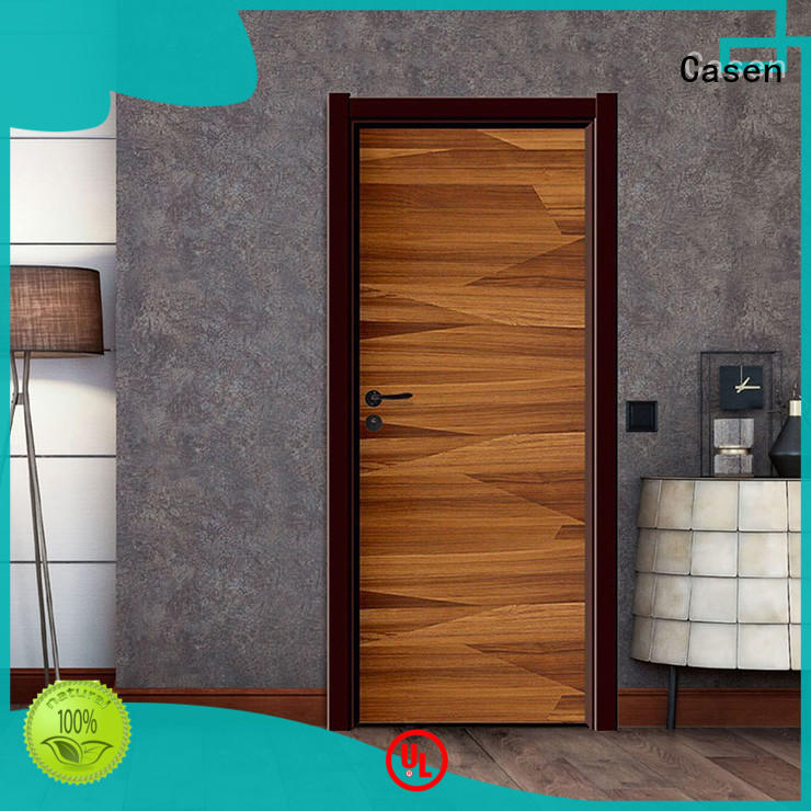 Casen white wood brown composite doors simple style for bathroom