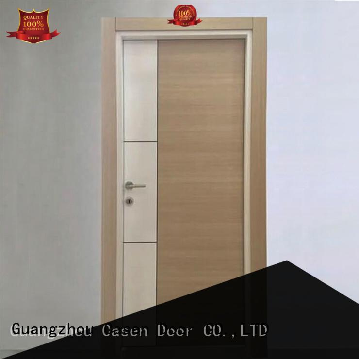 flat simple mdf doors wood design Casen company