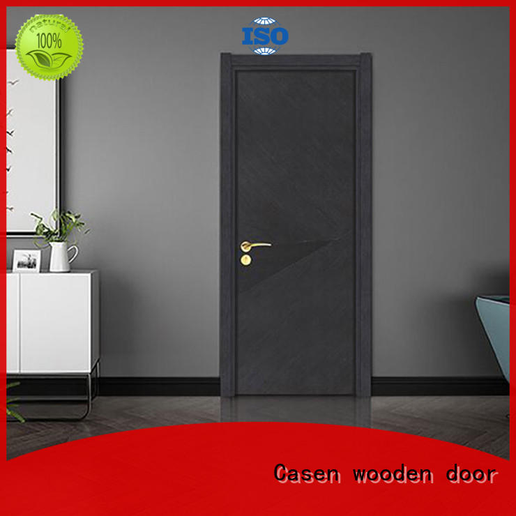 Casen Brand wooden style 4 panel doors flat factory
