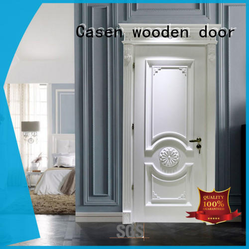 modern solid wood interior doors french design for store decoration Casen
