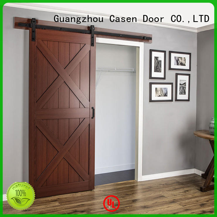 Quality Casen Brand mdf barn door glass space