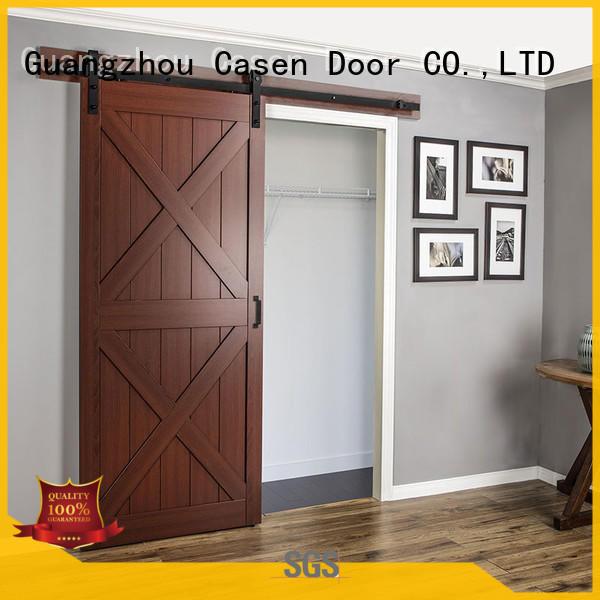 some space washroom mdf barn door Casen manufacture