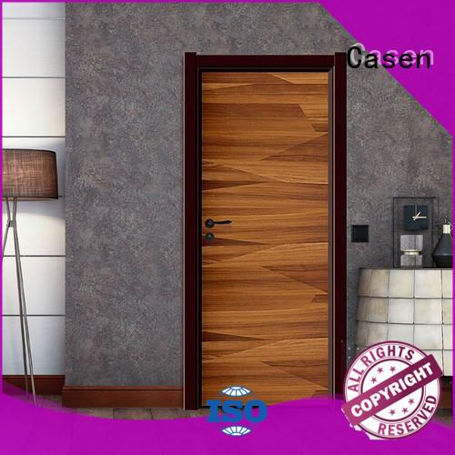 plain composite wood door flat dark for washroom