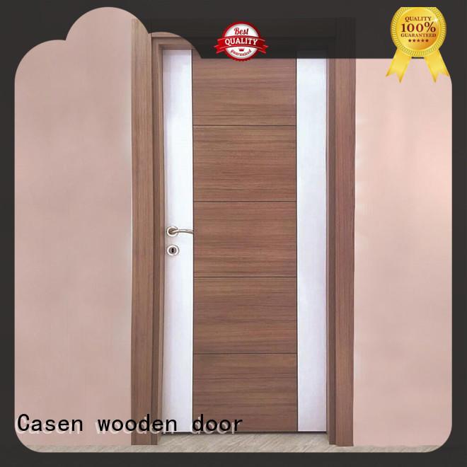 Casen solid core mdf doors easy installation for washroom