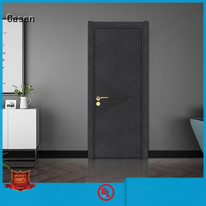 flat best price composite doors wooden for washroom Casen