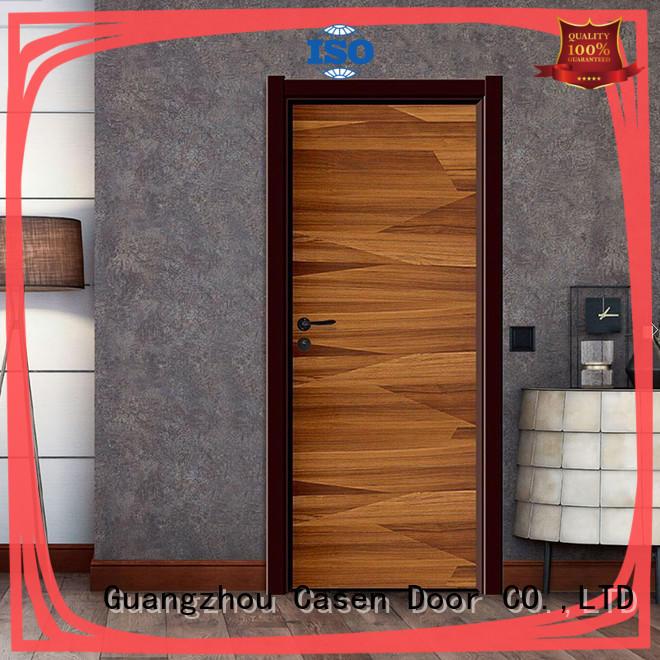 Casen light color composite interior doors white wood for washroom