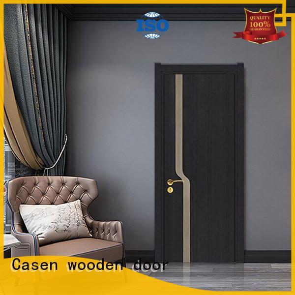 white wood modern composite doors best design for washroom Casen