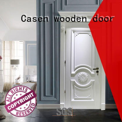 Casen wooden solid wood interior doors french design for bathroom