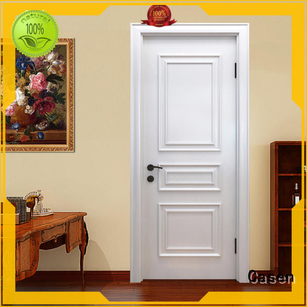 Casen white color solid wood interior doors easy for living room