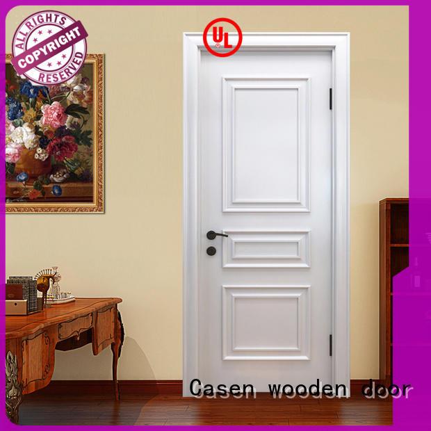 white color internal wooden doors fashion for bathroom Casen